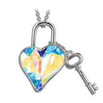 LADY COLOUR Mother's Day Jewelry Gifts for Mom, Snow Queen Pendant Necklace Made with Swarovski Crystals Hypoallergenic Jewelry Gift BoxPacking, Nickel Free Passed SGS Test