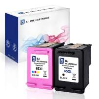 BJ Re-Manufactured Ink Cartridge Replacement for HP 65 XL 65XL N9K04AN for Envy 5055 5052 5058 (1 Black, 1 Tri-Color)