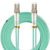 LC to LC Fiber Patch Cable, VANDESAIL 10G Gigabit Fiber Optic Cables Multimode OM3 Duplex 50/125 OFNP (15 Meter / 49.2ft, 1 Pack)