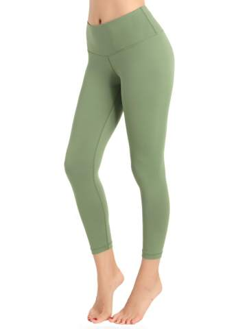REETOYO Womens High Waisted Yoga Cropped Leggings with Pockets Tummy Control Workout Running Tights Yoga Capris
