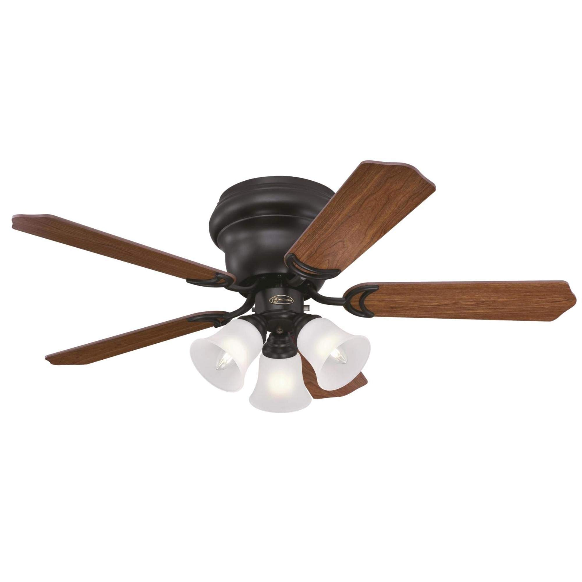 Westinghouse Lighting 7231300 CONTEMPRA TRIO Indoor Ceiling Fan with Light, 42 Inch, OIL RUBBED BRONZE