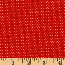 Santee Print Works BJ-527 Pin Dot Red Fabric by the Yard