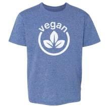 Vegan Logo Vegetarian Lifestyle Toddler Kids Girl Boy T-Shirt