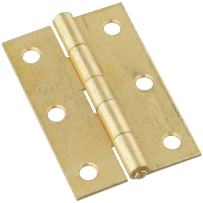National Hardware N146-399 V518 Non-Removable Pin Hinges in Brass, 2 pack
