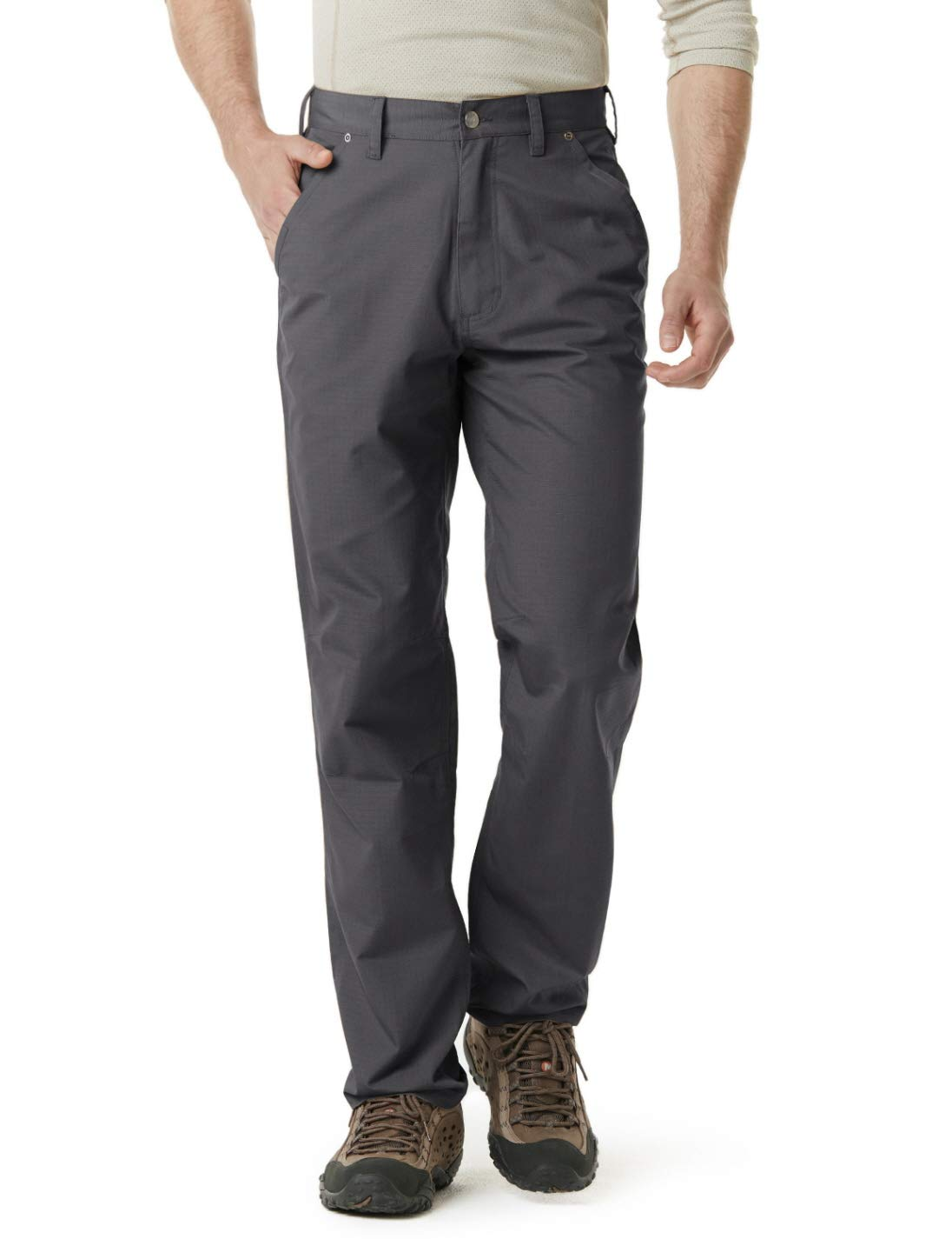 CQR Men's Ripstop Work Pants, Water Repellent Tactical Pants, Outdoor Utility Operator EDC Straight/Cargo Pants