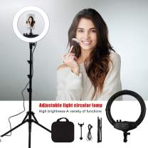 YBLMYWLW 12 inch 240 Led Ring Light Dimmable 3200K-5500K with Stand Professional Makeup Lights Video Shooting Fill Light Nail Art Eyebrow Studio Selfie …