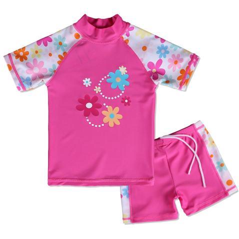 BAOHULU Girls Swimsuit Two Piece Tankini UPF 50 UV Protective Rash Guard Set 3-12 Years