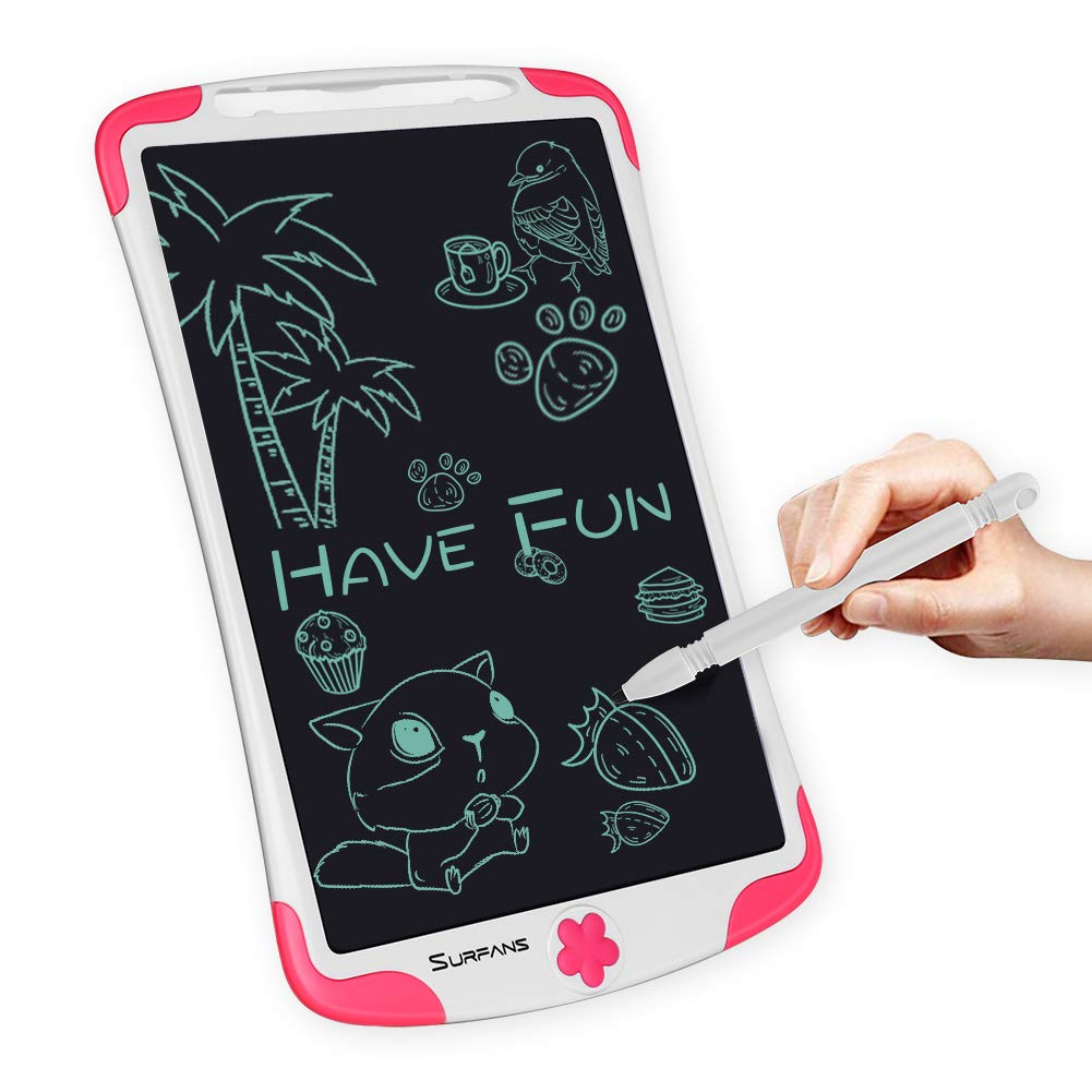Surfans LCD Writing Tablet, 10 inch Drawing Board Doodle Pad for Kids, Erasable Writing Board with Lock Function for Toddler Boys Girls