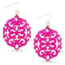 ZENZII Acrylic Resin Earrings for Women Girls Statement Geometric Modern Pattern Resin Acetate Drop and Dangle Earrings Fashion Jewelry