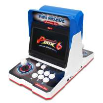 Wisamic Real Pandora's Box 6 Arcade Game Console with Dual 10.1 inch Screen, 1280x720 Full HD, 2 Players, Add Additional Games, Support 3D Games, Games Classification, Upgraded CPU, No Games Include