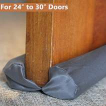 MAXTID Small Door Draft Stopper 24 to 30 inches Grey Adjustable Insulation Sound Proof Small Door Draft Blocker for Noise Light Smell Stopper