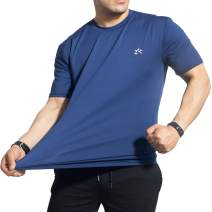 YOULERBU Men's Quick Dry T-Shirt Short Sleeve T- Shirt for Running Workout Training Athlete