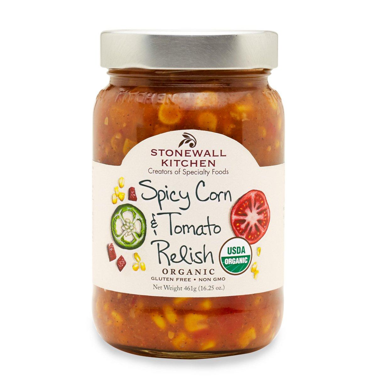 Stonewall Kitchen Relish Organic Spicy Corn Tomato, 16.25 oz