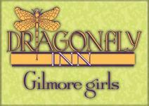 "Ata-Boy Gilmore Girls Dragonfly Inn Logo 3.5"" x 2.5"" Magnet for Refrigerators and Lockers"