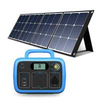 BLUETTI AC30 300Wh Portable Power Station with Solar Panel Included, 300W/110V AC Outlet Solar Generator Camping Battery Backup for Travel Trip RV Home Bundle w/120W Solar Charger