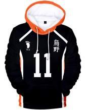 Tinyones Haikyuu Hoodie Cosplay Costume Hinata Shoyo Pullover Hooded Sweatshirt