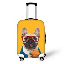 FOR U DESIGNS 26-30 inch Yellow Lovely Bulldog Pattern Luggage Cover Protector