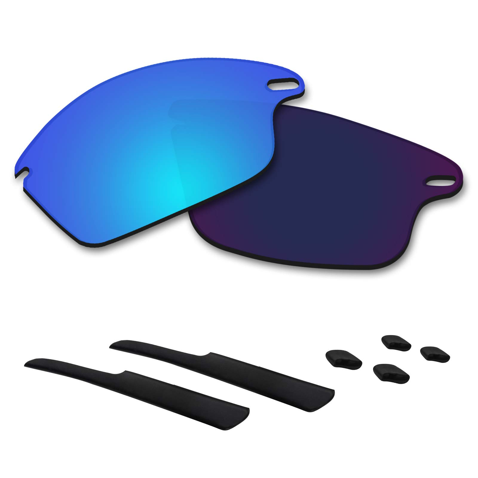 Betterun Polycarbonate Polarized Replacement Lenses/Rubber Kits for Oakley Fast Jacket