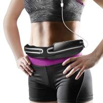 Ddida Slim Running Belt, Water Resistant Runners Belt Fanny Pack for Hiking Fitness, Black Runners Waist Pack iPhone 11 pro max Xs x 6 7 8 for Men,Women