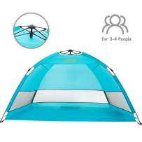 Leedor Sun Shelter Easy Setup Pop Up Beach Tent Portable Baby Canopy Quick Instant Automatic Sport Umbrella Sun Shade with 50+ UV Protection