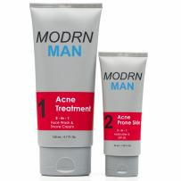 MODRN MAN Acne Treatment Kit For Men | Premium 2-in-1 Salicylic Acid Men's Face Wash & Shaving Cream | Ultimate All-in-One Oil Control Men's Face Moisturizer with SPF