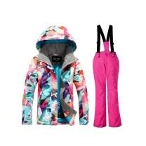 Girls Snowboard Ski Jacket and Pants with High Windproof Snowsuits