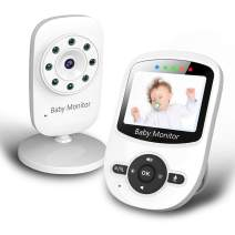 Baby Monitor, Video Baby Monitor with Digital Color Camera, Wireless View Video, Two-Way Talk, Lullabies, Infrared Night Vision, Temperature Monitoring, Feeding Alarm