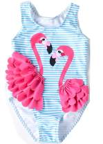 Lulans Baby Girl Swimsuit Cute One Piece Swimwear Swimsuit