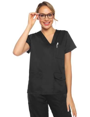 Abollria Workwear Women's V-Neck Scrub Top