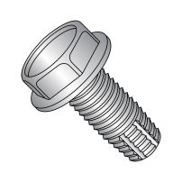 """18-8 Stainless Steel Thread Cutting Screw, Plain Finish, Hex Washer Head, Type F, 1/4""""-20 Thread Size, 1-1/4"""" Length (Pack of 5)"""