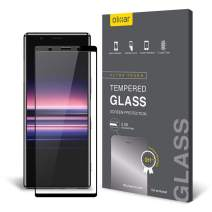 Olixar For Sony Xperia 5 Screen Protector - Full Coverage - Tempered Glass - 9H Rated - Shock Protection - Easy Application, Card and Cleaning Cloth Included