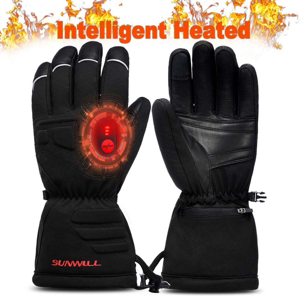 Waterproof Electric Heated Gloves Winter Warm Hand Outdoor 4 Control Level 2018