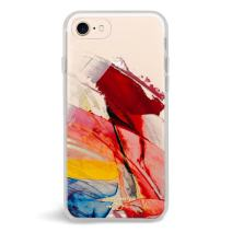 Zero Gravity Case Compatible with iPhone 7/8 - Abstract - Smudged Paint - 360° Protection, Drop Test Approved