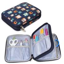 Yarwo Carrying Bag for Cricut Accessories, Organizer Case for Cricut Pen Set and Basic Tool Set Storage, Owls Pattern, Bag Only