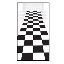 Beistle Checkered Runner, Black/White