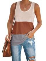 Inorin Womens Color Block Workout Tank Tops Racerback Casual Sport Summer Sleeveless T Shirts