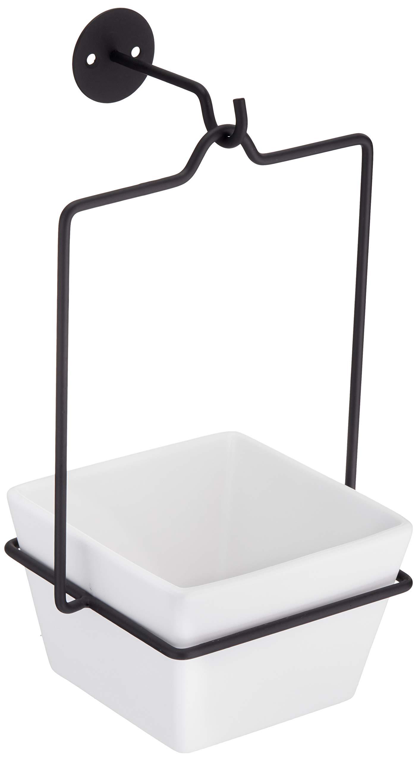 AmazonBasics Hanging Planter, Square - White/Black
