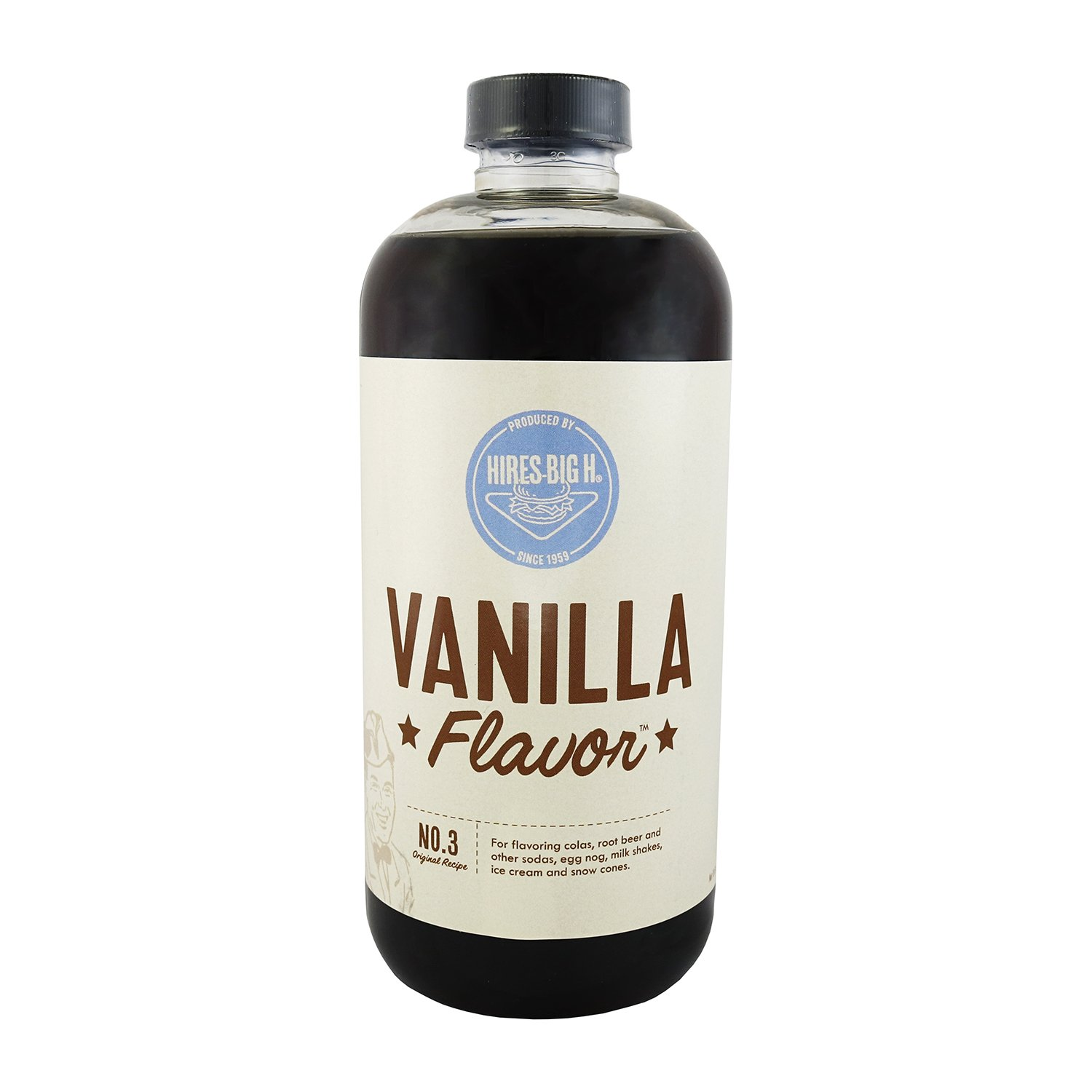 Hires Big H Vanilla Syrup, Great for Soda Flavoring 18 oz - 1 Pack
