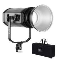 GVM 150W LED Video Light 5600K Daylight Balanced Focusable LED Continuous Video Light for Studio Photography Shooting, CRI95+/Tlci95+, Remote Control, U Bracket, DMX, Bowens Mount, Carry Bag