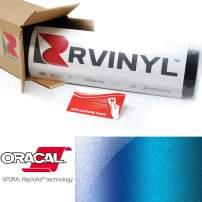 ORACAL 970RA Shift Effect Gloss Ultramarine Violet 319 Wrapping Cast Film Vehicle Car Wrap Vinyl Sheet Roll - (4ft x 5ft w/App Card)