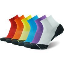 HUSO Men's Tennis Socks, Performance Sports Ankle Compression Socks 4, 6 Pairs