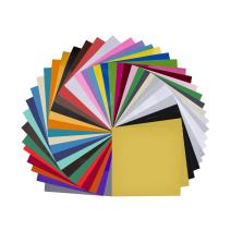 "Vinyl Sheets 40 Pack 12"" x 12"" Premium Permanent Self Adhesive Vinyl Sheets for Craft Cutters,Printers,Letters,Decals (35 Color)"