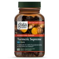 Gaia Herbs, Turmeric Supreme Pain, Herbal Pain Supplement with Curcumins, Vegan Liquid Capsules, 120 Count