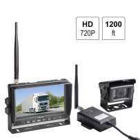 Haloview RD7 Wireless Long Range Backup Camera System kit 7'' 720P HD Digital Monitor Built in DVR Rear View Observation Reverse Camera for Truck/Trailer/Bus/RV/Pickups/Camper