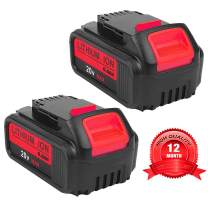 2Pack 6000mAh for Dewalt 20v Battery, Lithium-ion Replacement Battery for Dewalt dcb200 DCB204 DCB207 DCB205-2 DCB180 DCD985B DCD771C2 DCS355D1 DCD790B