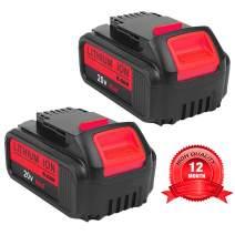 2Pack 6000mAh for Dewalt 20v Battery, Lithium-ion Replacement Battery for Dewalt dcb200 DCB204 DCB207 DCB205-2 DCB180 DCD985B DCD771C2 DCS355D1 DCD790B