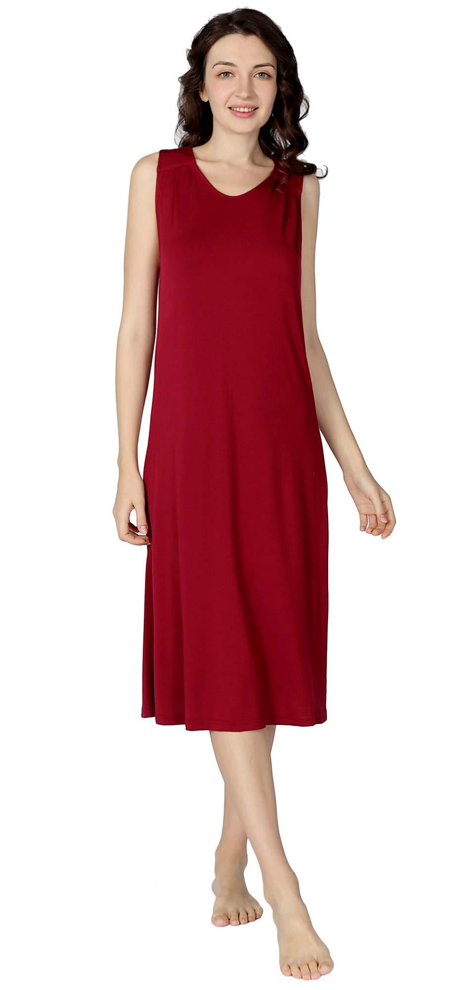 LazyCozy Womens Sleepwear Bamboo Nightshirt Soft Nightgown