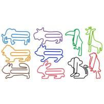 Animal Paper Clips 10 Assorted Colors, DOT DOT Jumbo Fun Shape Paper Clips 80pcs + Gift Box(Design 2018), Unique Design Animal Stationery for Cookbook File Decoration Bookmark Planner Paper Clips.