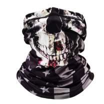 Neck Gaiter Face Mask Reusable, Cloth Face Masks Washable Bandana Face Mask