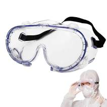Safety Goggles Protective Eyewear Splash Shield Safety Glasses Impact Goggle Clear Anti-Fog Lenses Spectacles for Eye Protection for Lab Home Classroom Workplace (4 vent)-1 PCS
